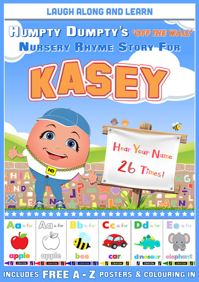 Personalised Nursery Rhyme Story for Kasey (Male Version)