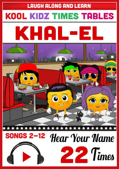 Kool Kidz Personalised for Khal-El (Pronounced as KAL-ell)
