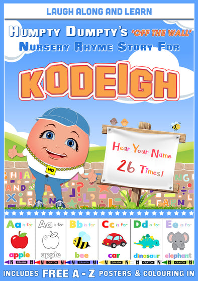Personalised Nursery Rhyme Story for Kodeigh (Female Version)