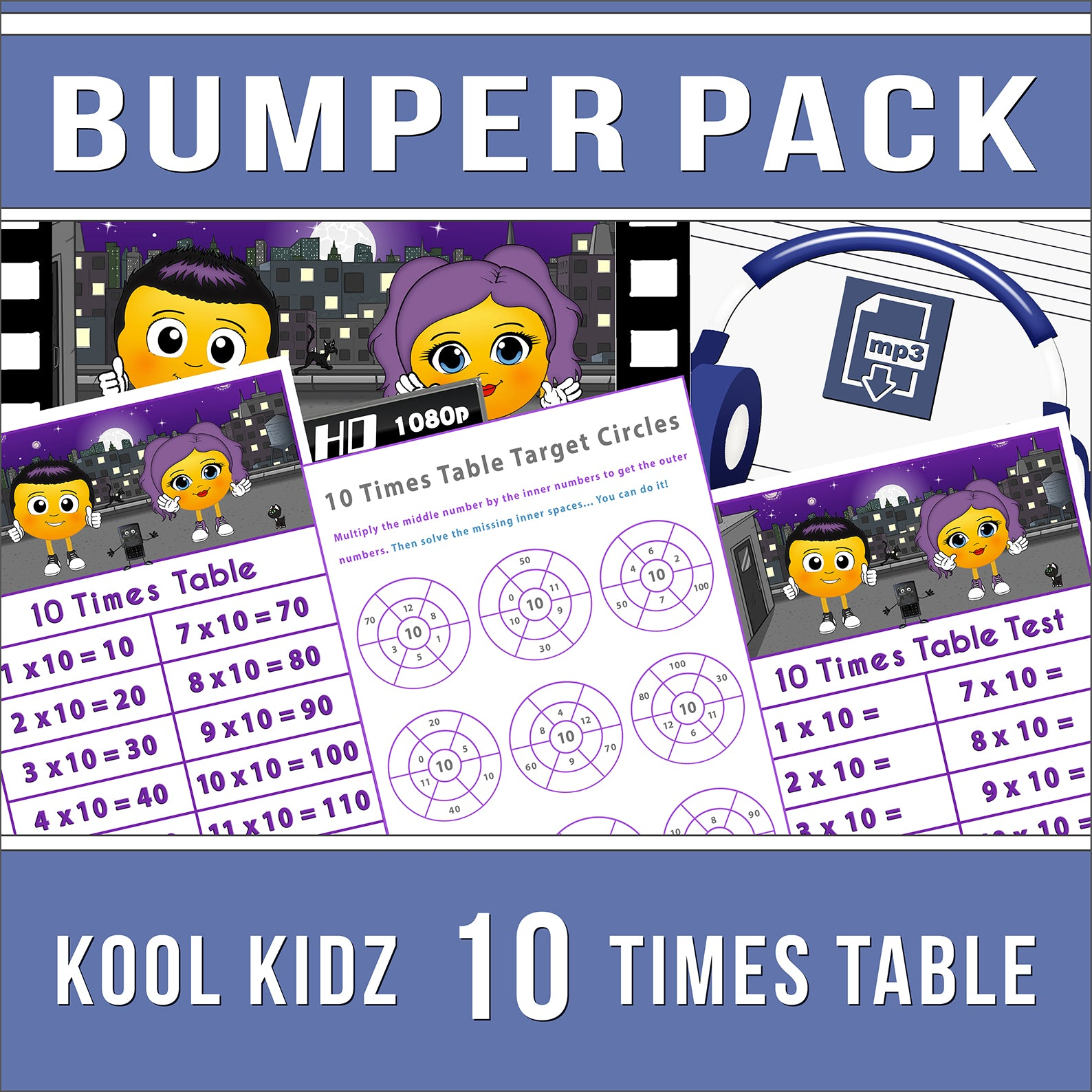 10 Times Table Bumper Pack