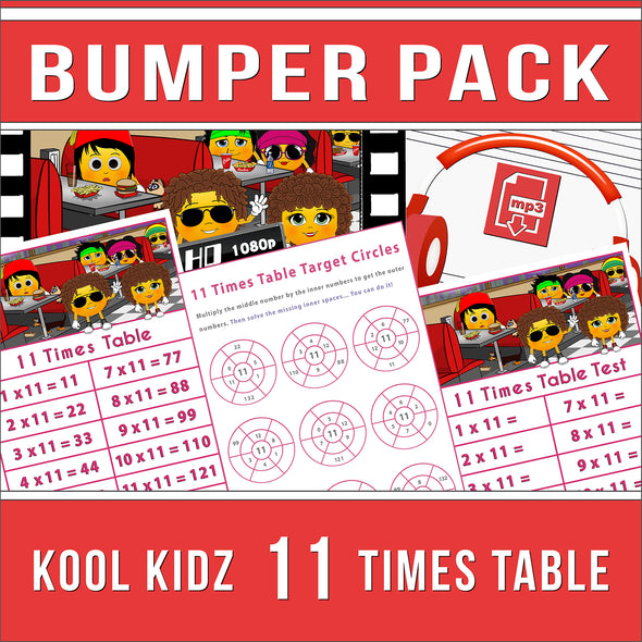11 Times Table Bumper-Pack