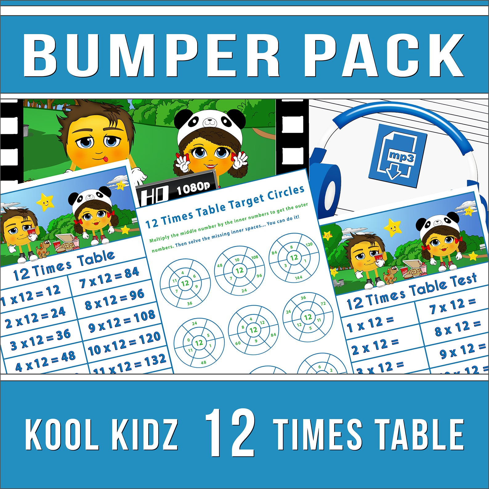 12 Times Table Bumper Pack
