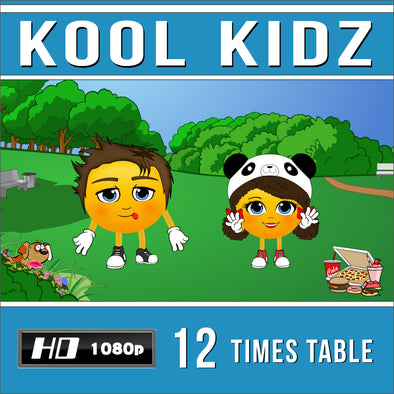Kool Kidz-12 Times Table Video
