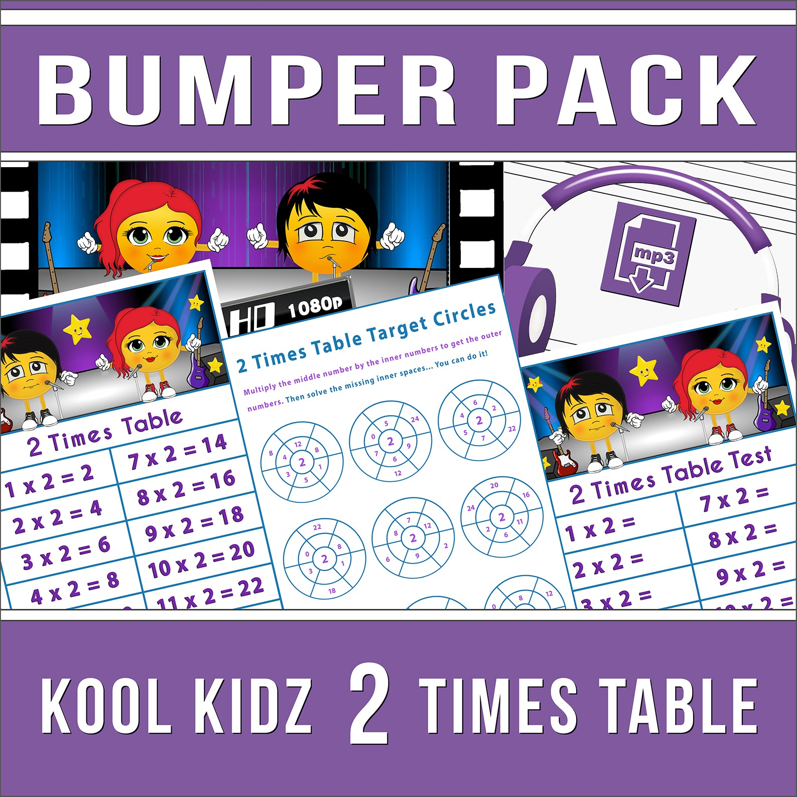Kool Kidz 2 Times Table Bumper Pack