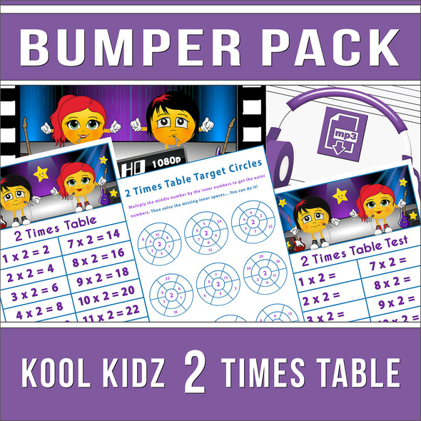 2 Times Table Bumper-Pack