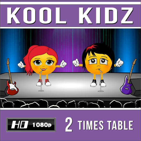 Kool Kidz 2 Times Table Video