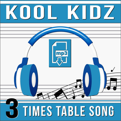 Kool Kidz 3 Times Tables (Audio)