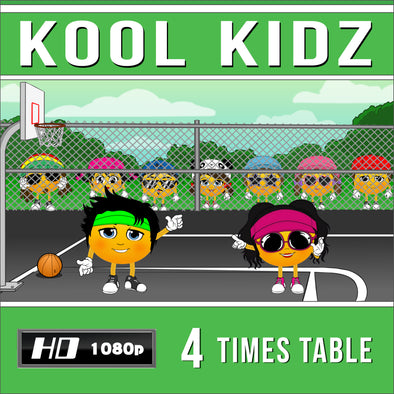 Kool Kidz 4 Times Table Video
