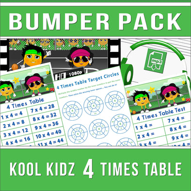 4 Times Table Bumper-Pack