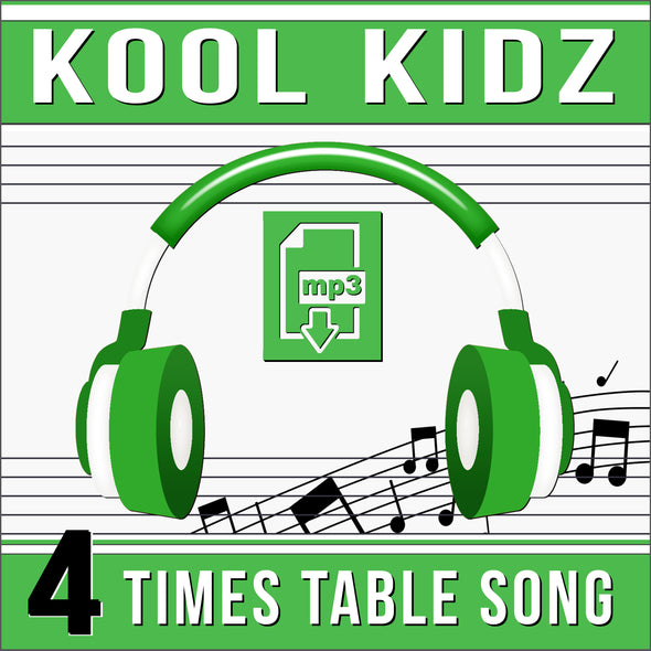 Kool Kidz 4 Times Tables (Audio)