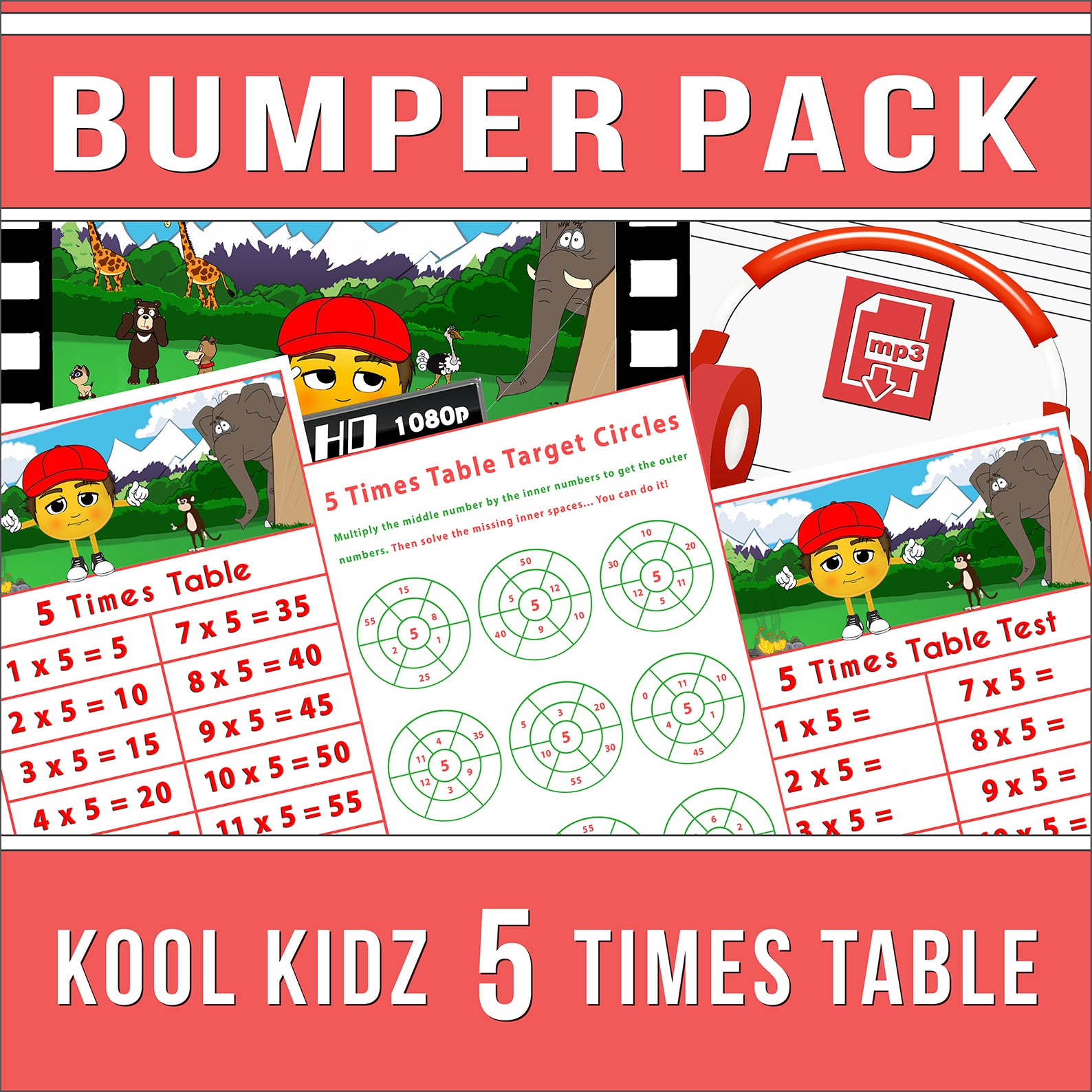 5 Times Table Bumper-Pack
