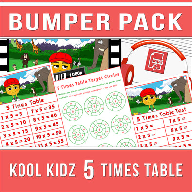 Kool Kidz 5 Times Tables Bumper Pack