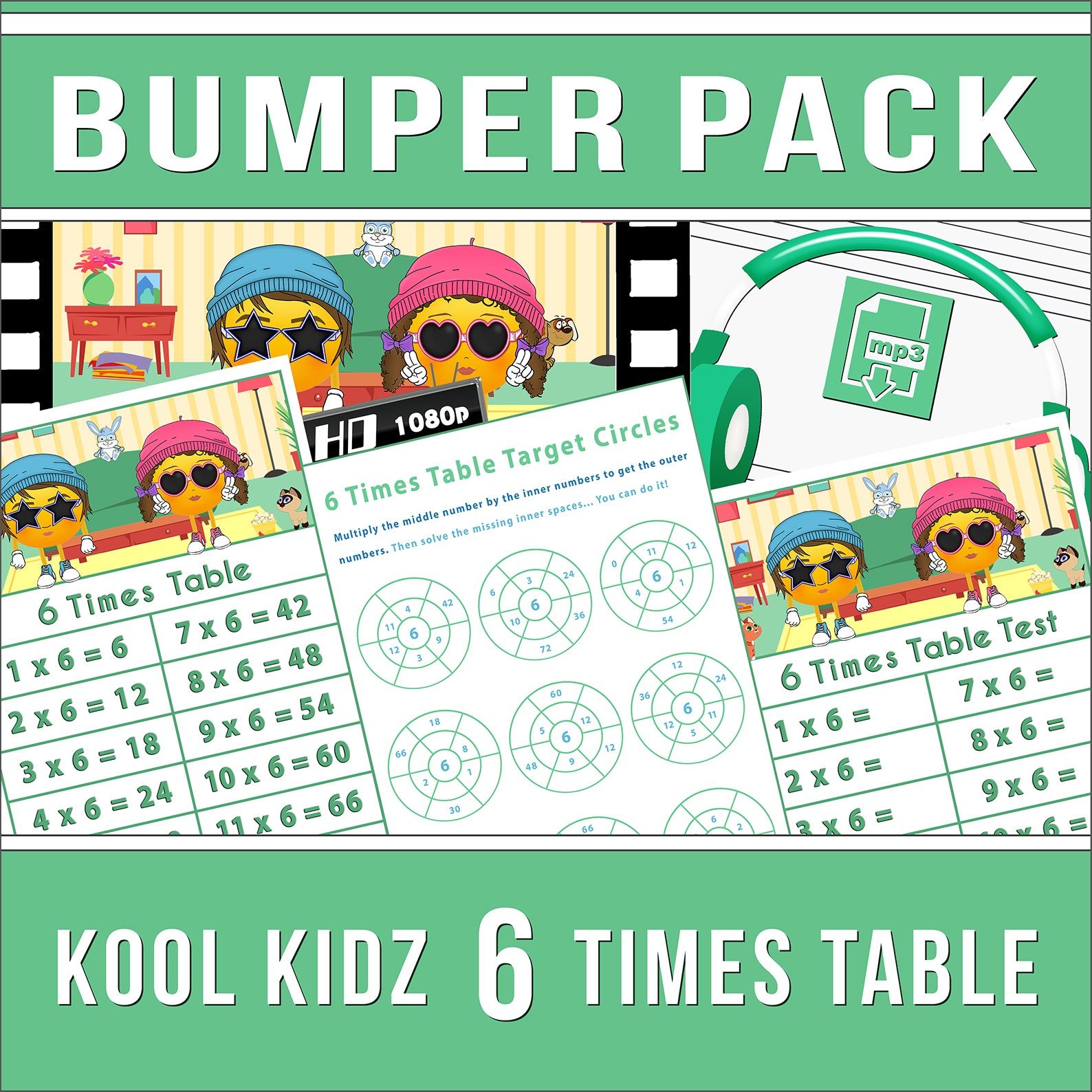 6 Times Table Bumper-Pack