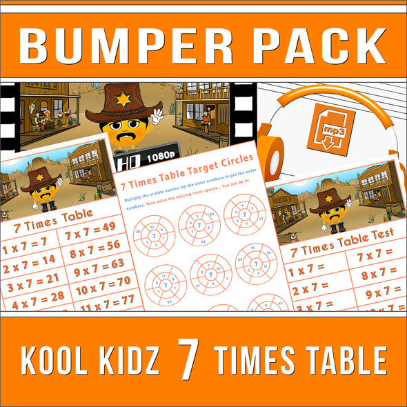 Kool Kidz 7 Times Tables Bumper Pack