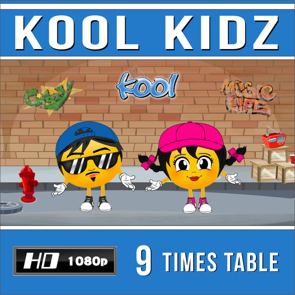 Kool Kidz 9 Times Table Video