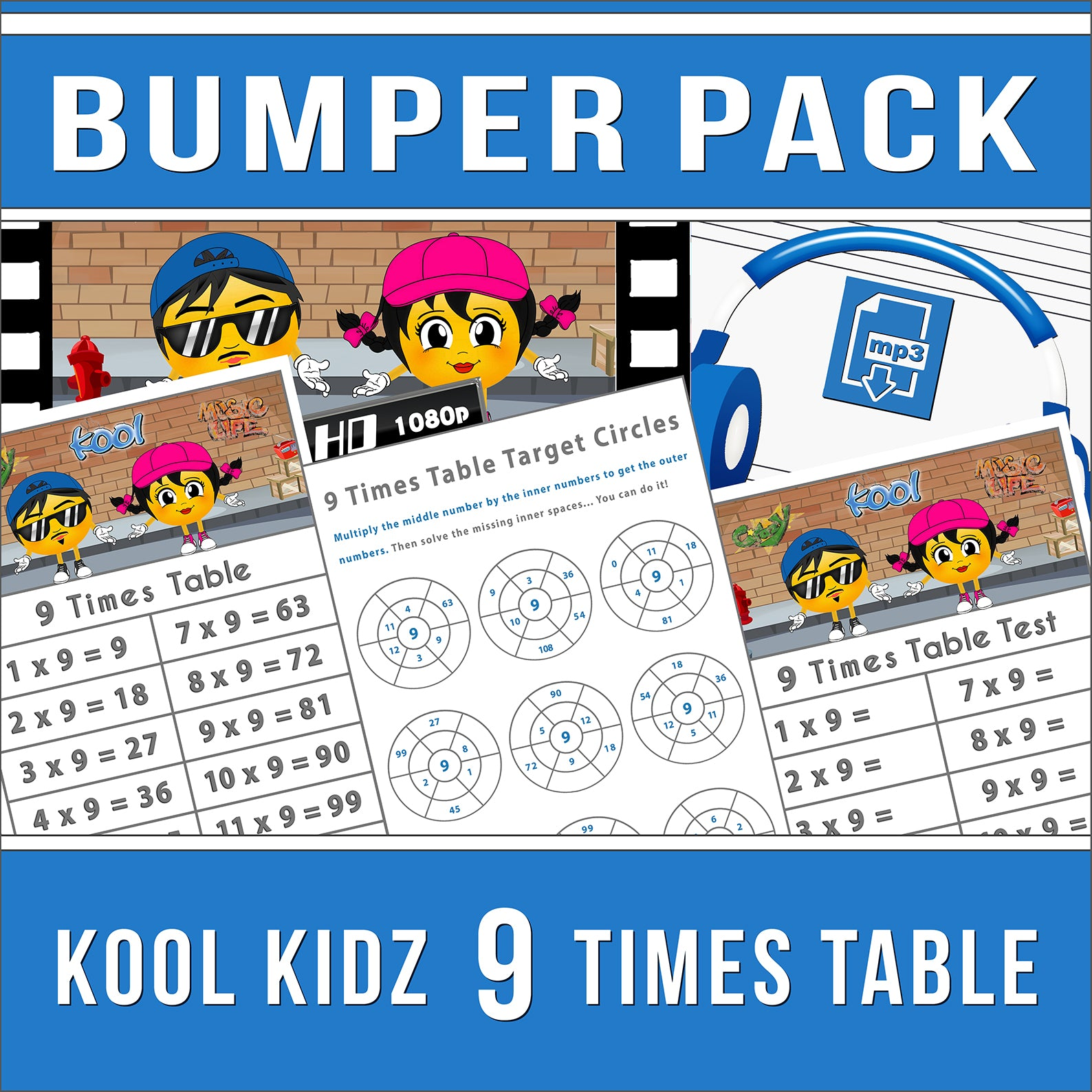 9 Times Table Bumper-Pack