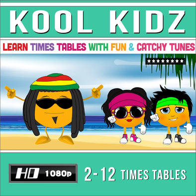 Kool Kidz-2 to 12 Times Table Videos