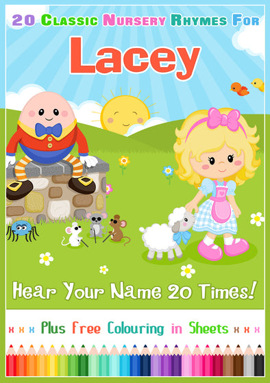 20 Nursery Rhyme Songs Personalised for Lacey