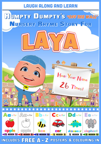 Personalised Nursery Rhyme Story for Laya (Male Version)
