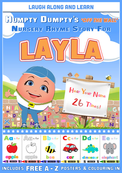 Personalised Nursery Rhyme Story for Layla