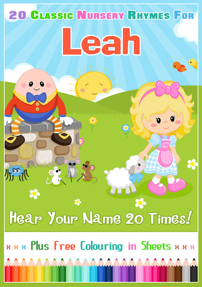 20 Nursery Rhyme Songs Personalised for Leah