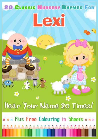 20 Nursery Rhyme Songs Personalised for Lexi