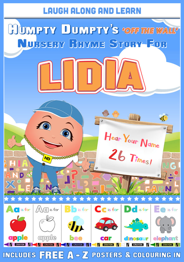 Personalised Nursery Rhyme Story for Lidia