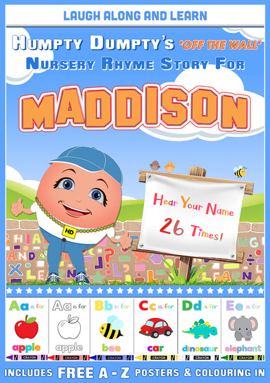 Personalised Nursery Rhyme Story for Maddison (Female Version)