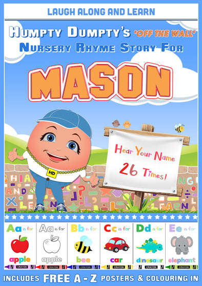 Personalised Nursery Rhyme Story for Mason (Male Version)
