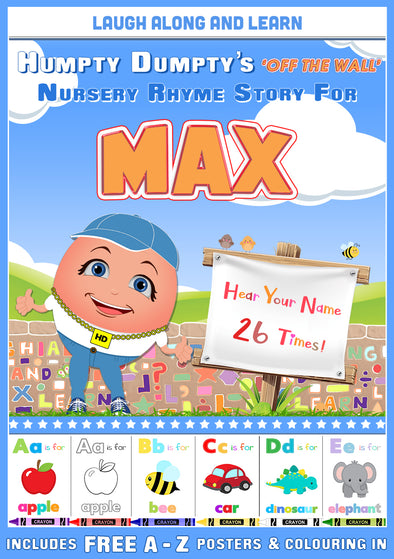 Personalised Nursery Rhyme Story for Max (Male Version)