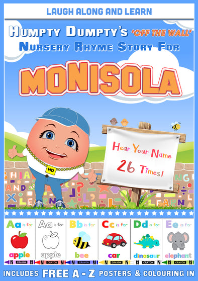 Personalised Nursery Rhyme Story for Monisola (Male Version)