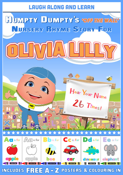 Personalised Nursery Rhyme Story for Olivia Lilly