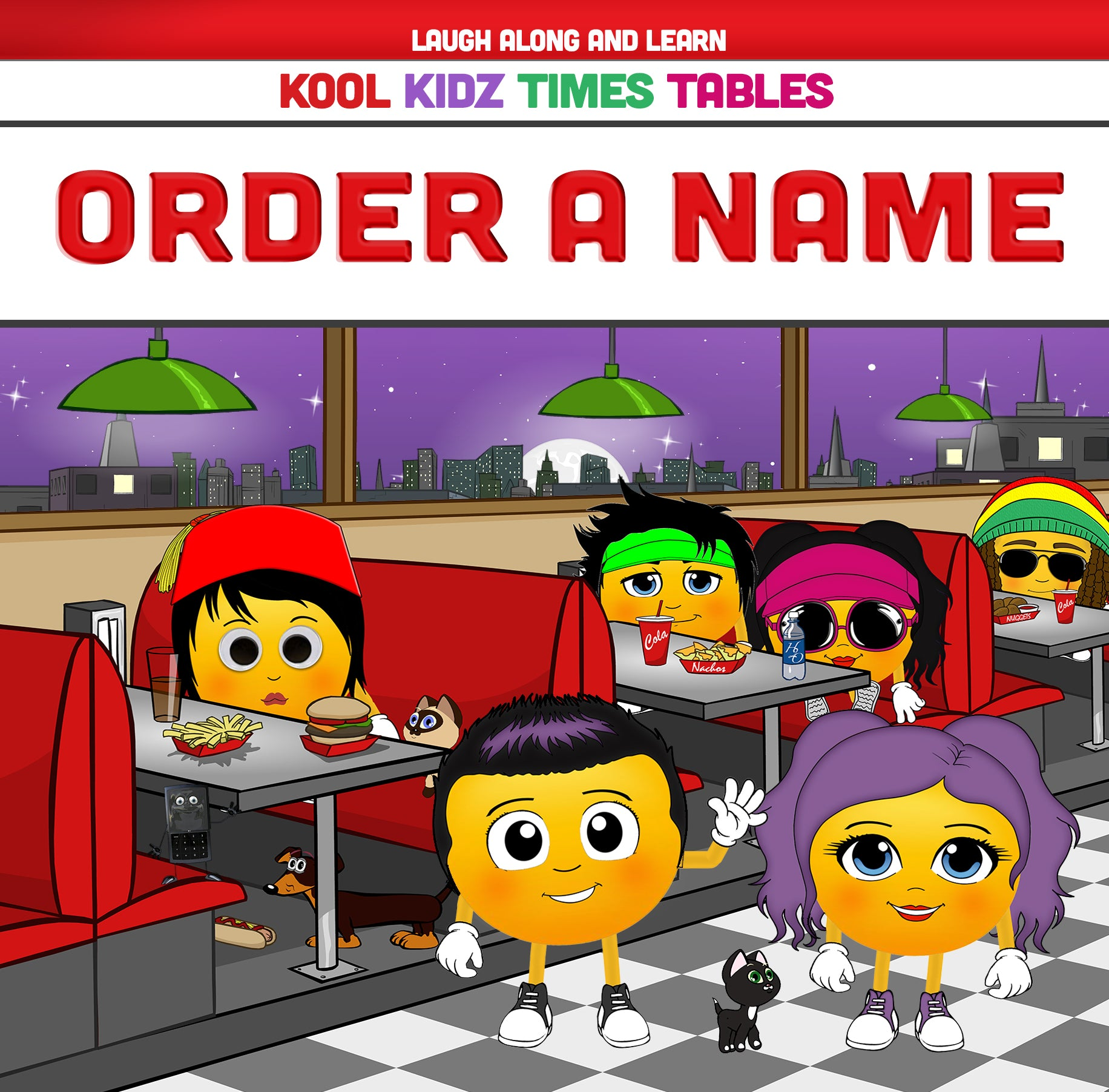 Kool Kidz Personalised Times Table Songs 2-12