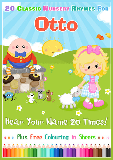 20 Nursery Rhyme Songs Personalised for Otto
