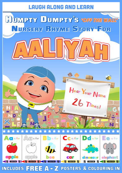 Personalised Nursery Rhyme Story for Aaliyah (Pronounced uh-LEE-ah)
