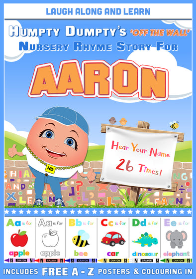 Personalised Nursery Rhyme Story for Aaron (Pronounced as AIR-un)