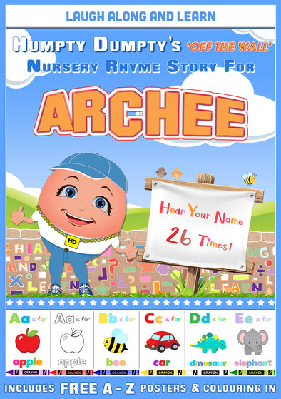 Personalised Nursery Rhyme Story for Archee