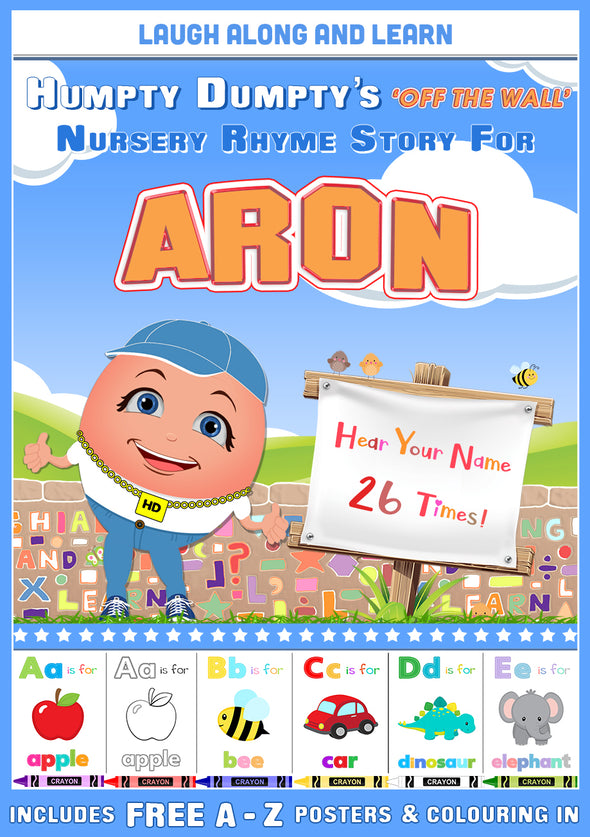 Personalised Nursery Rhyme Story for Aron (Pronounced as A-RUN)