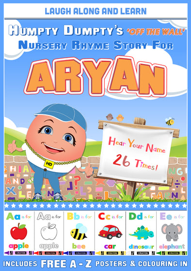 Personalised Nursery Rhyme Story for Aryan (Pronounced as ARE-REE-AN)