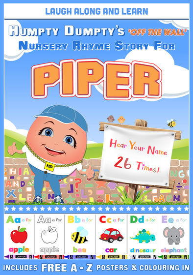 Personalised Nursery Rhyme Story for Piper (Male Version)