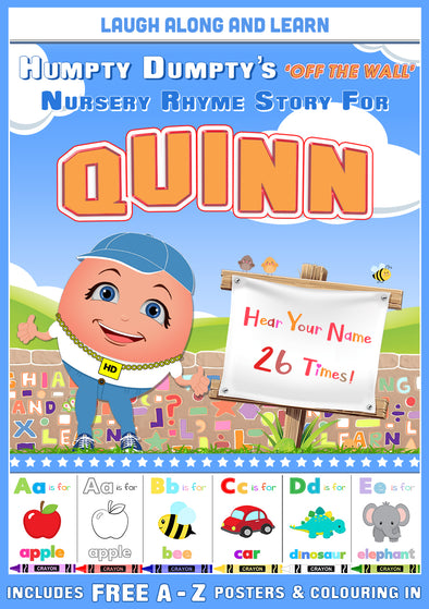 Personalised Nursery Rhyme Story for Quinn (Male Version)