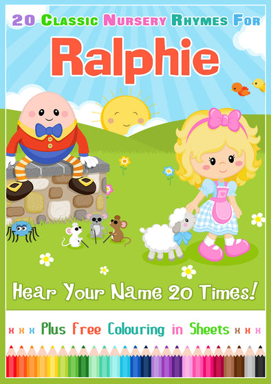 20 Nursery Rhyme Songs Personalised for Ralphie