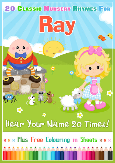 20 Nursery Rhyme Songs Personalised for Ray
