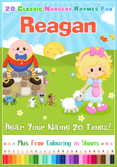 20 Nursery Rhyme Songs Personalised for Reagan