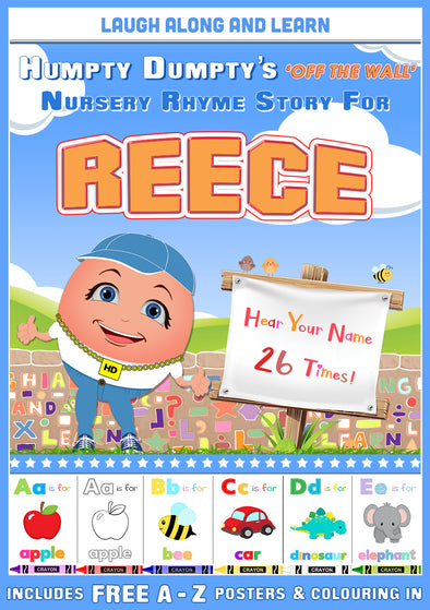 Personalised Nursery Rhyme Story for Reece (Male Version)