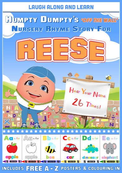 Personalised Nursery Rhyme Story for Reese (Female Version)