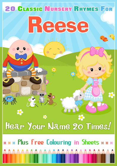 20 Nursery Rhyme Songs Personalised for Reese