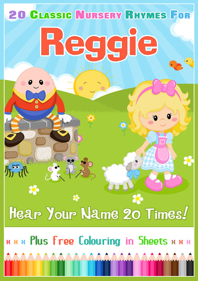 20 Nursery Rhyme Songs Personalised for Reggie
