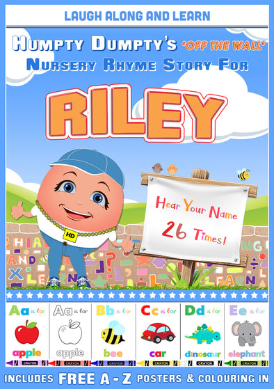 Personalised Nursery Rhyme Story for Riley (Male Version)