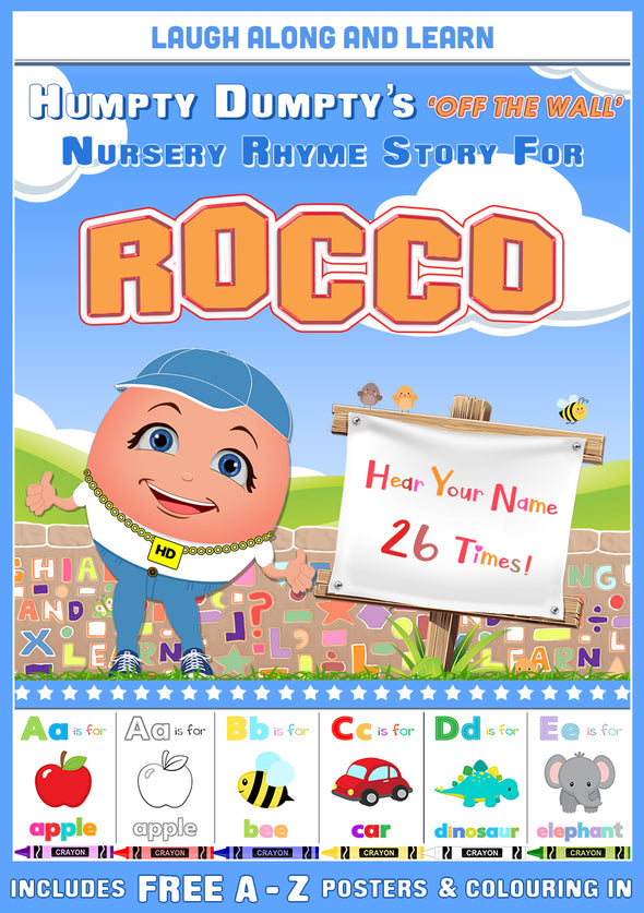 Personalised Nursery Rhyme Story for Rocco (Male Version)